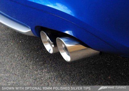AWE Track Edition Exhaust for Audi S5 3.0T - Chrome Silver Tips (90mm)