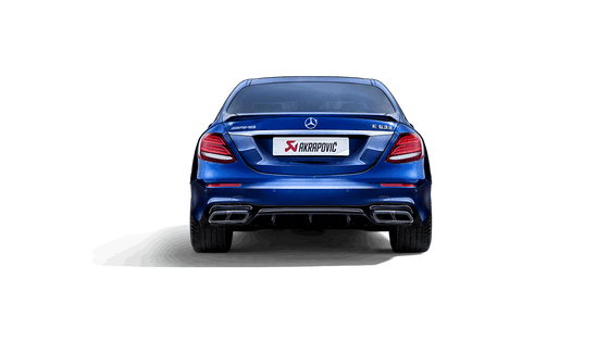 Akrapovic 2018 Mercedes Benz E63 Evolution Line (Titanium) & Link Pipe w/ Gloss Carbon Fiber Tips