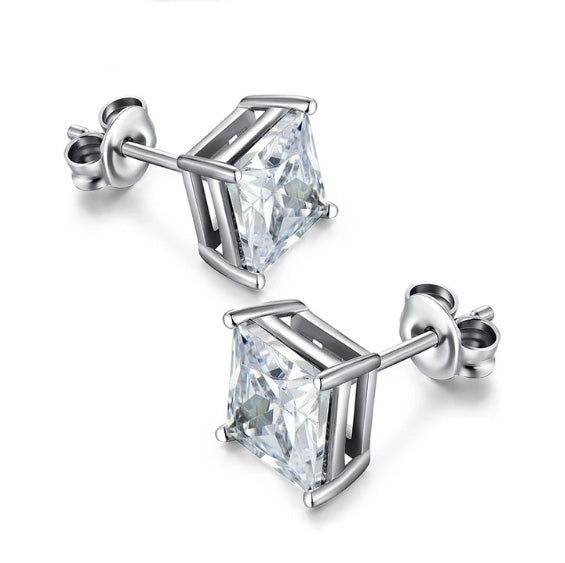 Cubic Zirconia CZ Stud Earrings