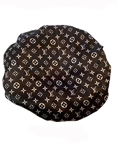 Premium Satin Bonnet Black LV