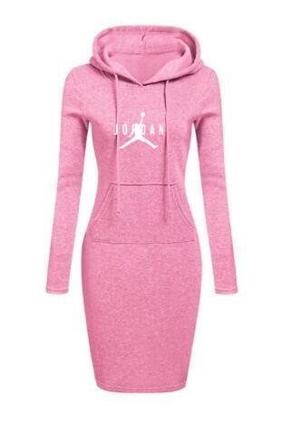 2020 Women's Hoodie Pocket Dress