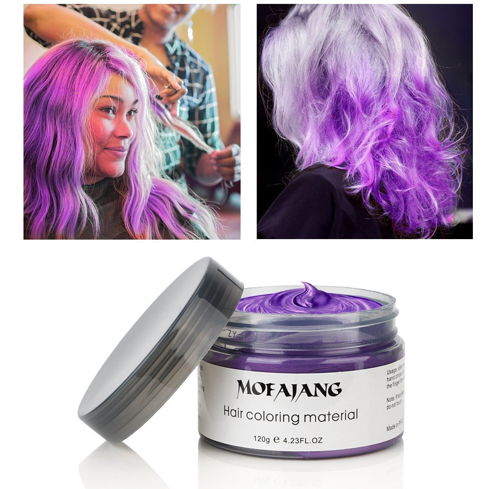 Mofajang Color Hair Wax Purple Coloring Wax