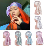 Unisex Long Silk Scale Laser Breathable Bandana Turban