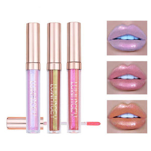 Metallic Lipgloss Plumper Make Up Holographic Shimmer Glow