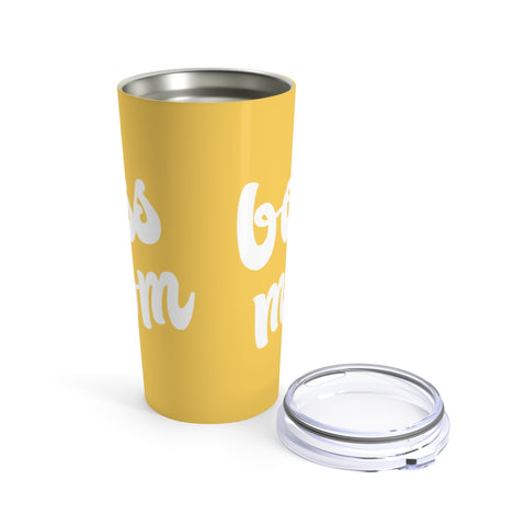 Boss Mom | Yellow 20oz Hot/Cold Tumbler