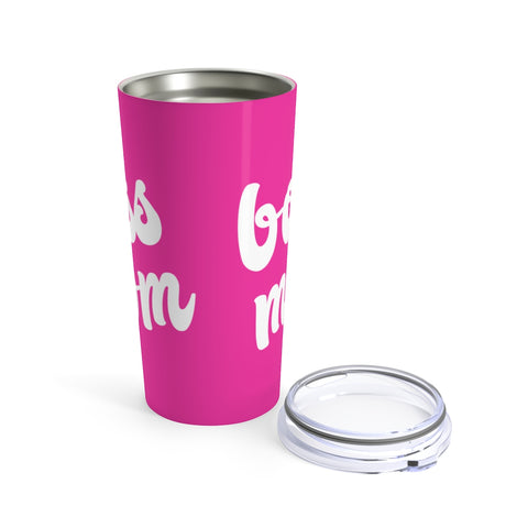Boss Mom | Pink 20oz Hot/Cold Tumbler