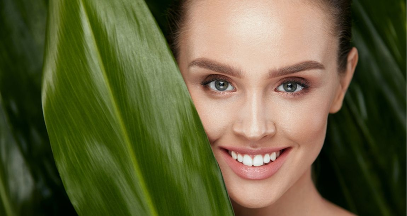 Woman with healthy radiant skin