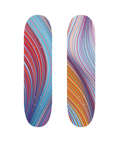 "Kai & Sunny ""UPWARD TURN"" and ""IN THE DRIFT"" Skate Deck set"
