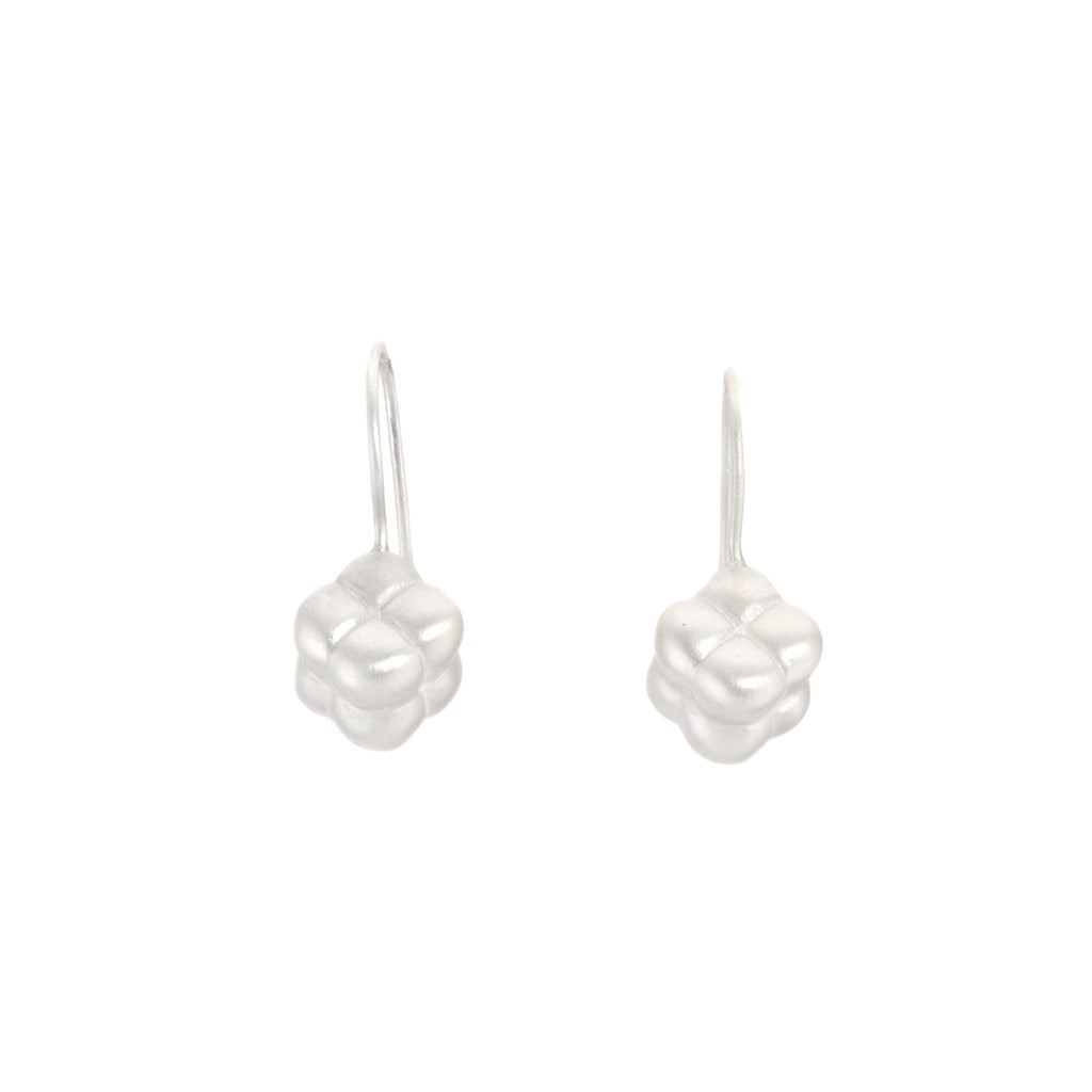 NEW! Sterling Silver Tufted Cube Earrings by Dushka