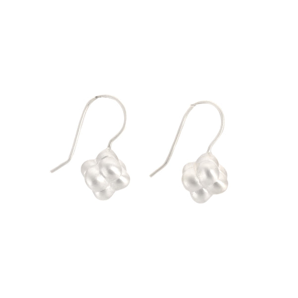 Sterling Silver Tufted Cube Earrings by Dushka