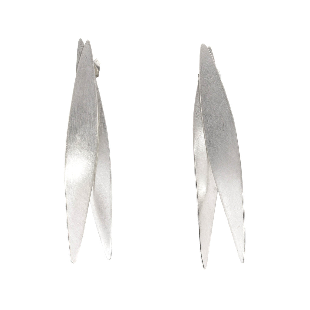 NEW! Long Kinetic Feather Earrings by Reiko Ishiyama