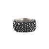 NEW! 10mm Oxidized Sterling Silver Bumpy Band by Dahlia Kanner