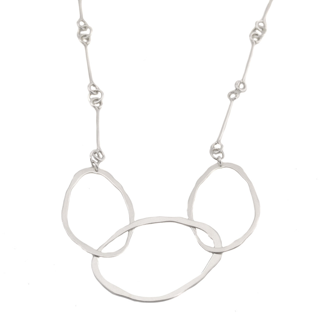 NEW! Three Interlocked RC Necklace in Sterling Silver by Lisa Crowder