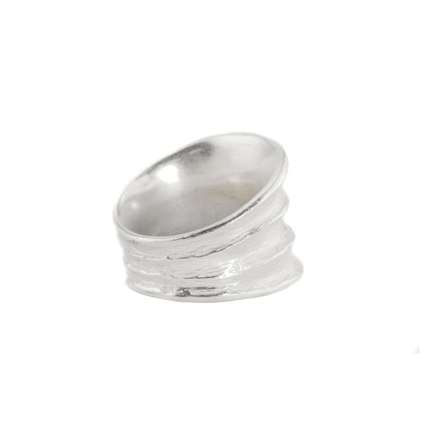 R Horn 3 Tapered Ring by Dahlia Kanner