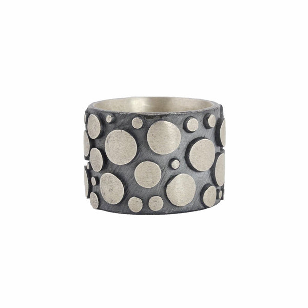 NEW! Oxidized Sterling Silver Disco Band by Dahlia Kanner