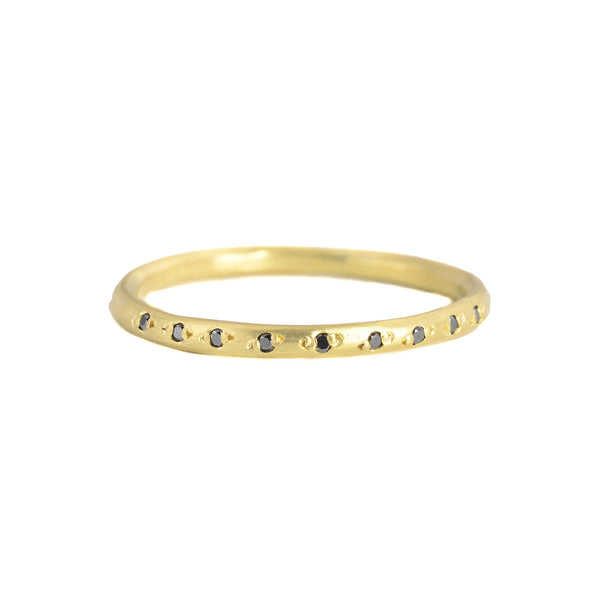 18k Pave Half Eternity Band by Sarah Mcguire