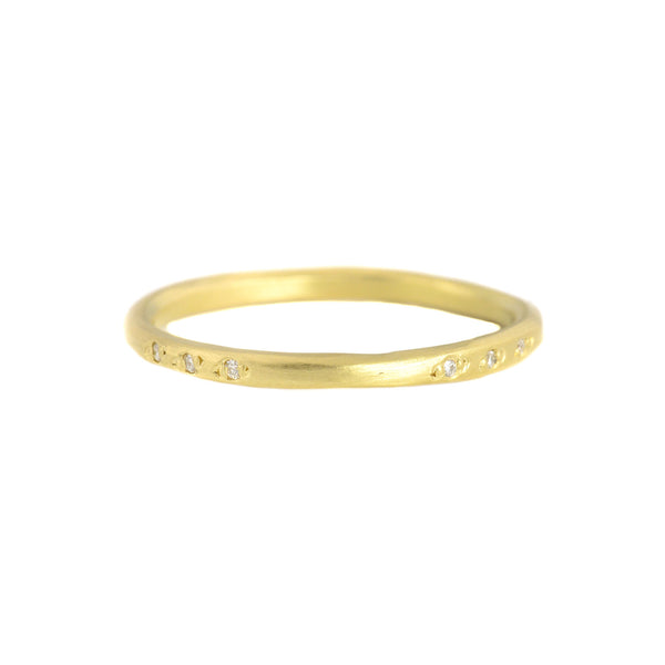 18k Gold Scatter Vine Band by Sarah Mcguire