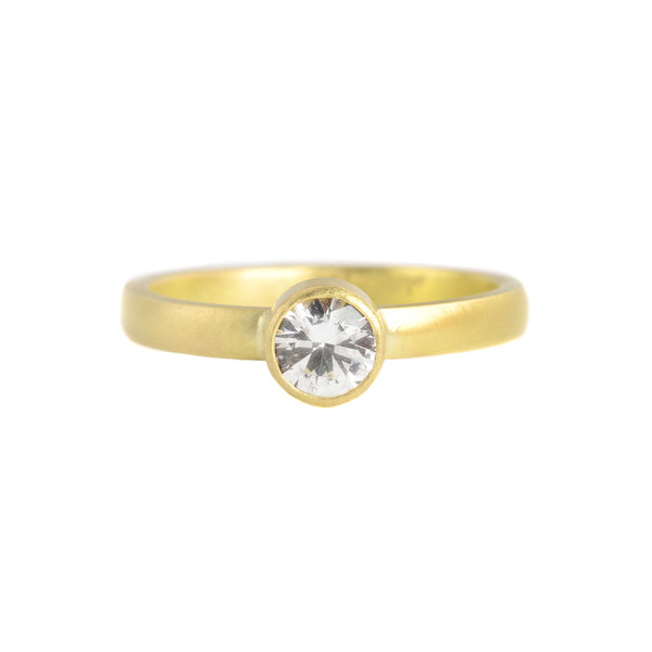 Brilliant White Sapphire Nora Setting Ring by Sarah Mcguire