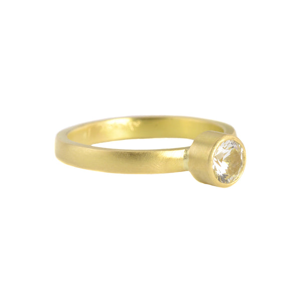 NEW!  Brilliant White Sapphire Nora Setting Ring by Sarah Mcguire
