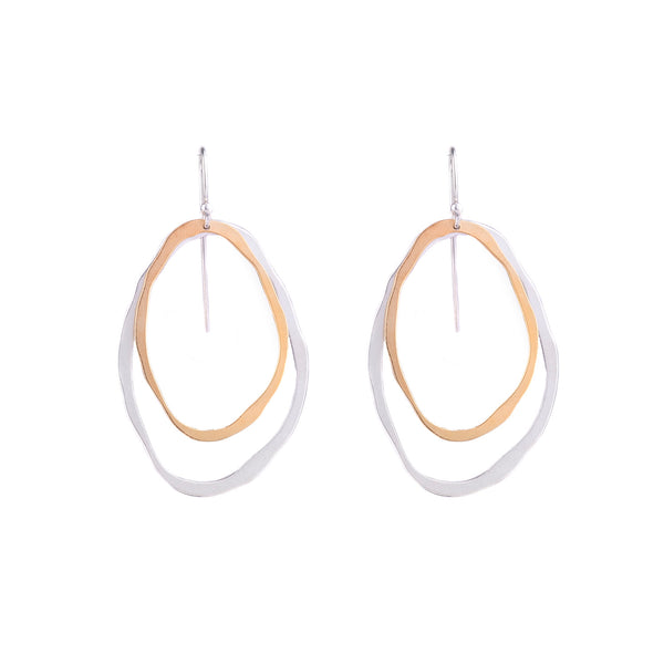 NEW! Large Two Layer Thin RC Two-Tone Earrings by Lisa Crowder