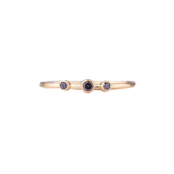 NEW! Triple Black Diamond Skinny Vine Ring by Sarah Mcguire