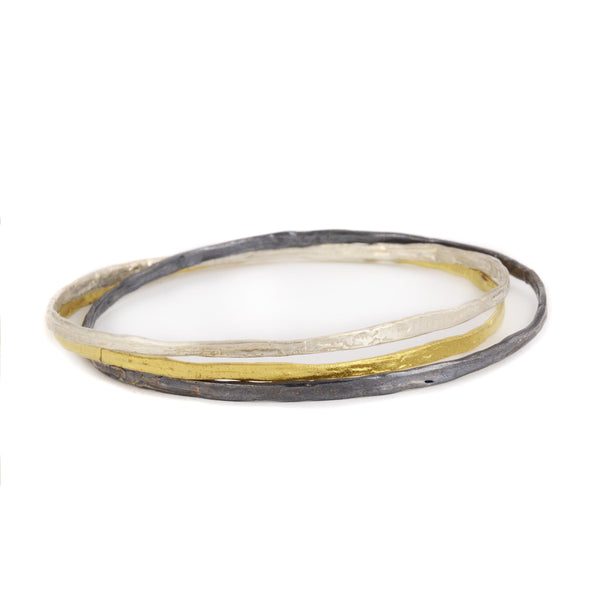 NEW! Three Metal Bracelet by Claudia Kussano