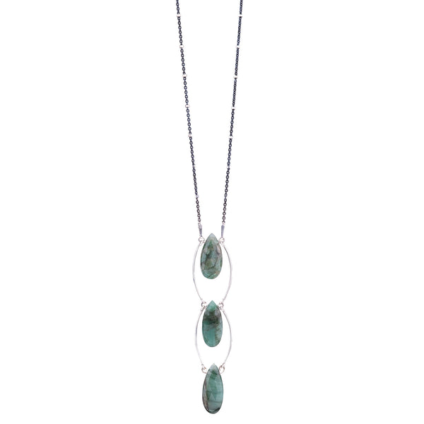 NEW! Step up Emerald Necklace by Serena Kojimoto