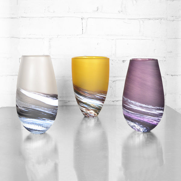 Large Seaspray Bud Vases in Multiple Colors by Teign Valley Glass
