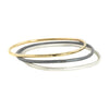 Thick Square Bangles in Gold, Silver and Oxidized Silver by Colleen Mauer Designs