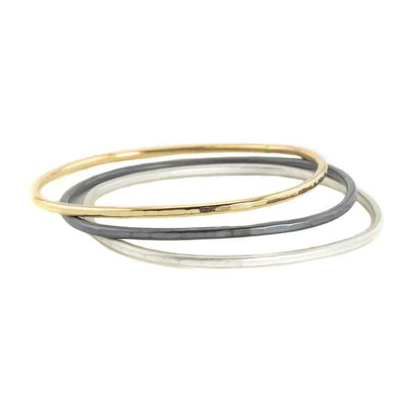 NEW! Thick Square Bangles in Gold, Silver and Oxidized Silver by Colleen Mauer Designs