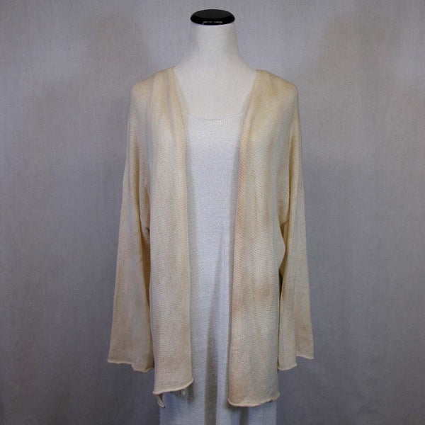 Long Flood Cardigan in Natural by Olivvi - Fire Opal - 1