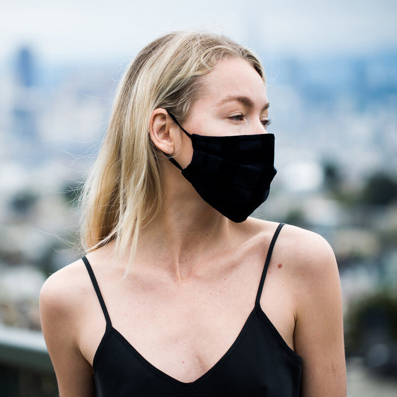 NEW! Porto Mask in Black Jet Jersey