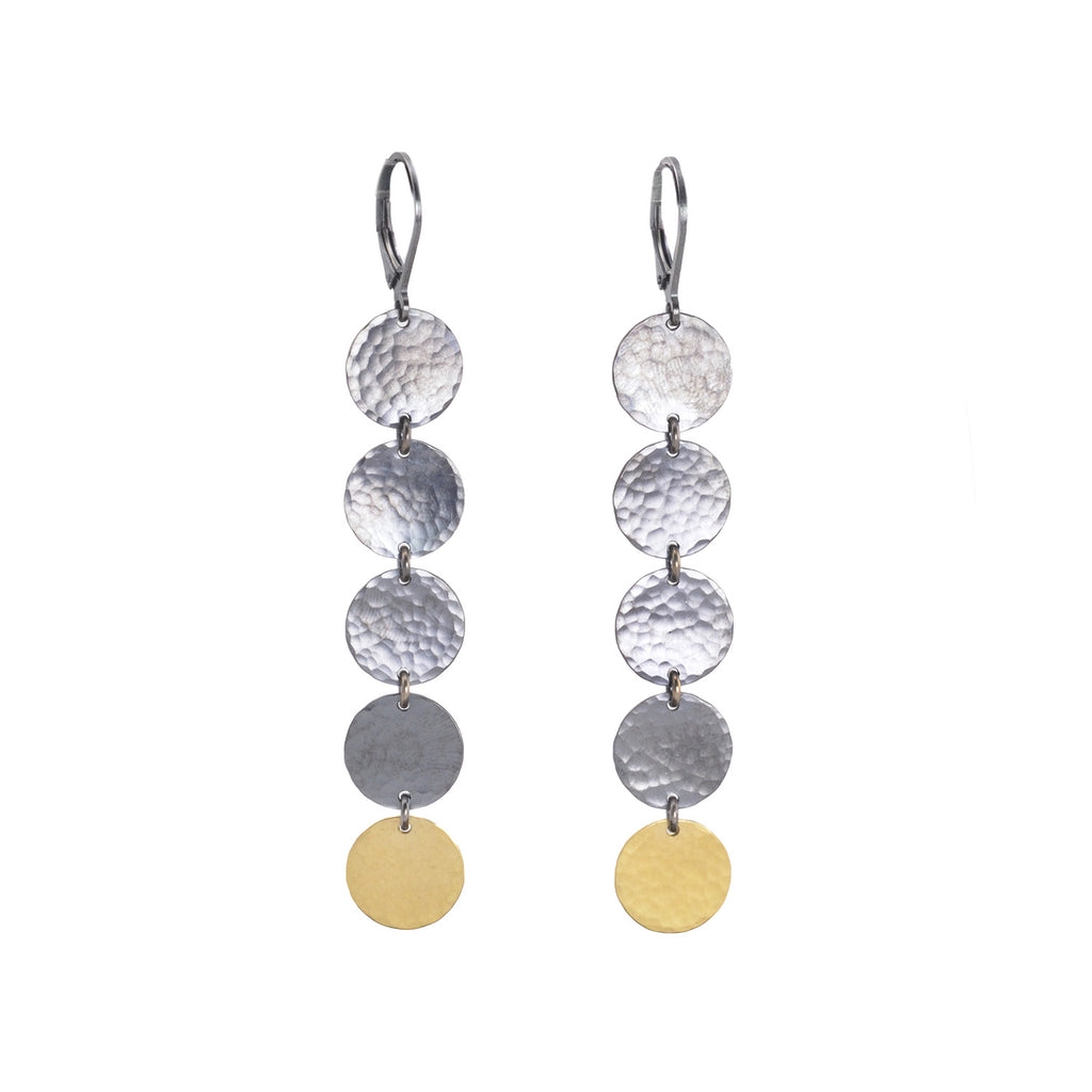 NEW! Small 5 Hammered Disc Earrings by Lisa Crowder