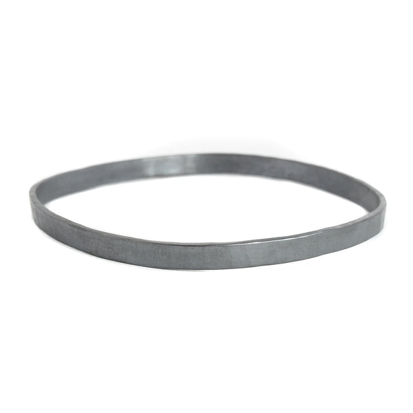 NEW! 5mm wide Square Densa Bangle in Silver or Oxidized Silver by Colleen Mauer Designs