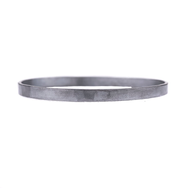 NEW! 5mm wide Densa Bangle in Oxidized Silver by Colleen Mauer Designs