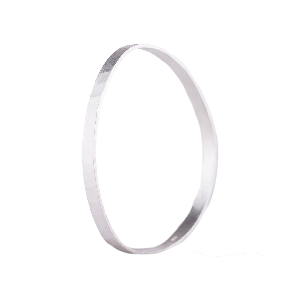 NEW! 5mm wide Densa Bangle in Bright Silver by Colleen Mauer Designs