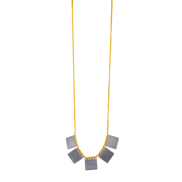 NEW! Square Necklace in Yellow by Erica Schlueter