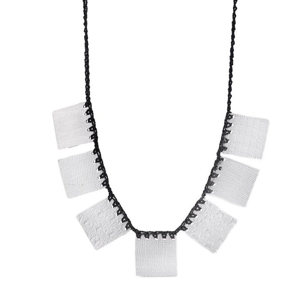 NEW! 7 Square Necklace in Black by Erica Schlueter