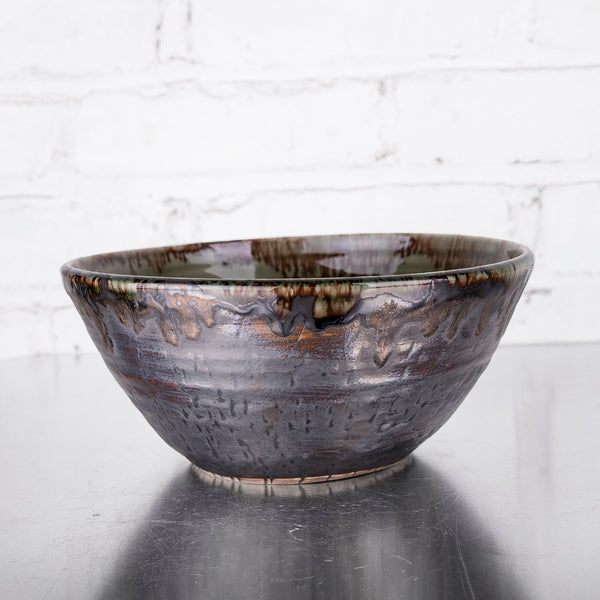"NEW! 8"" Deep Bowl in Kelp by Alice Goldsmith"