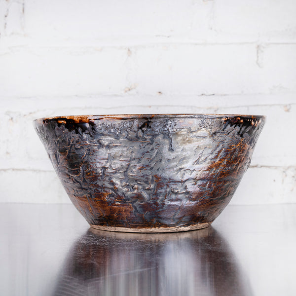"NEW! 8"" Deep Bowl in Parchment by Alice Goldsmith"