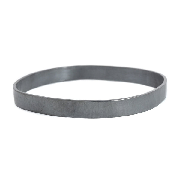 NEW! 8mm wide Square Densa Bangle in Silver or Oxidized Silver by Colleen Mauer Designs