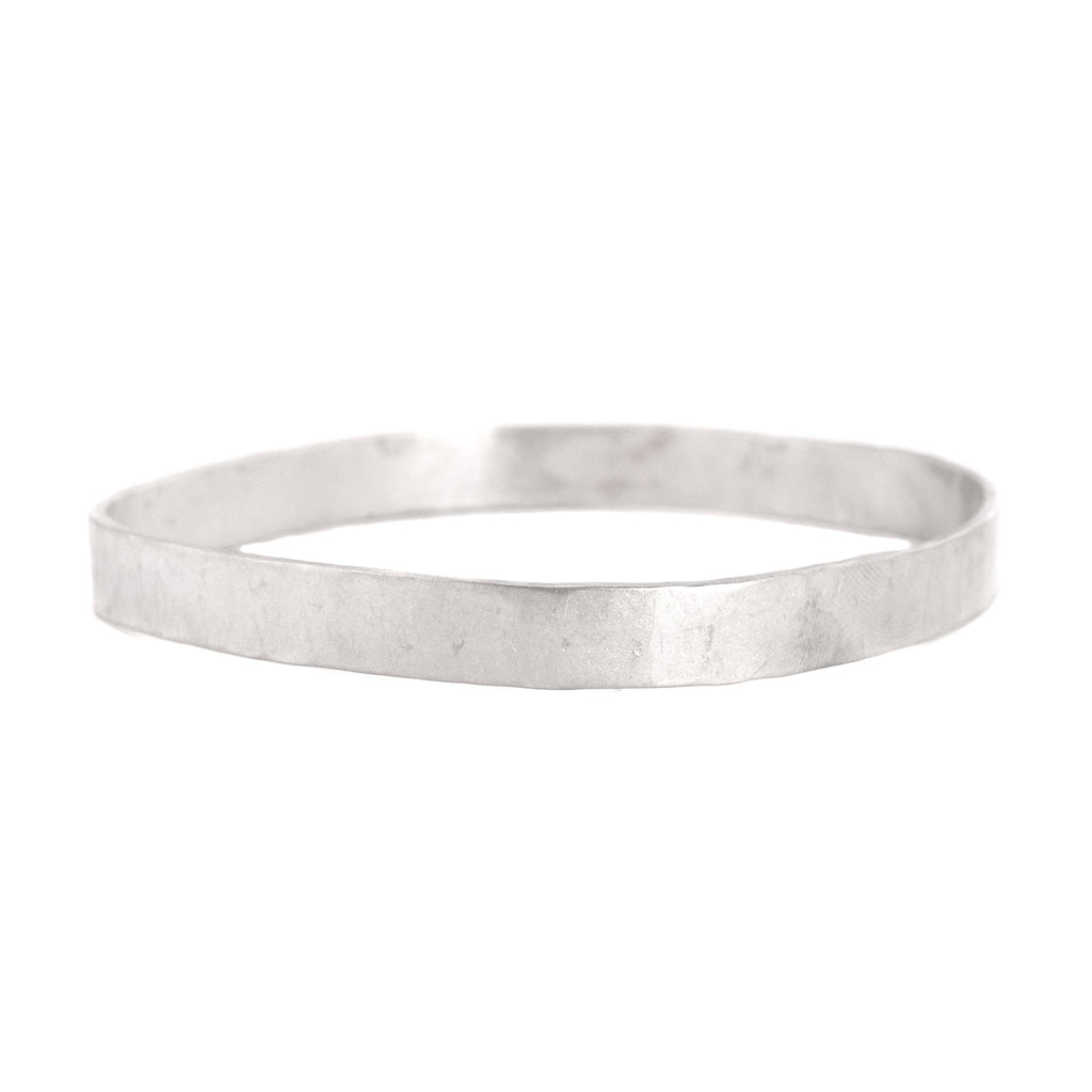 8mm wide Square Densa Bangle in Silver or Oxidized Silver by Colleen Mauer Designs