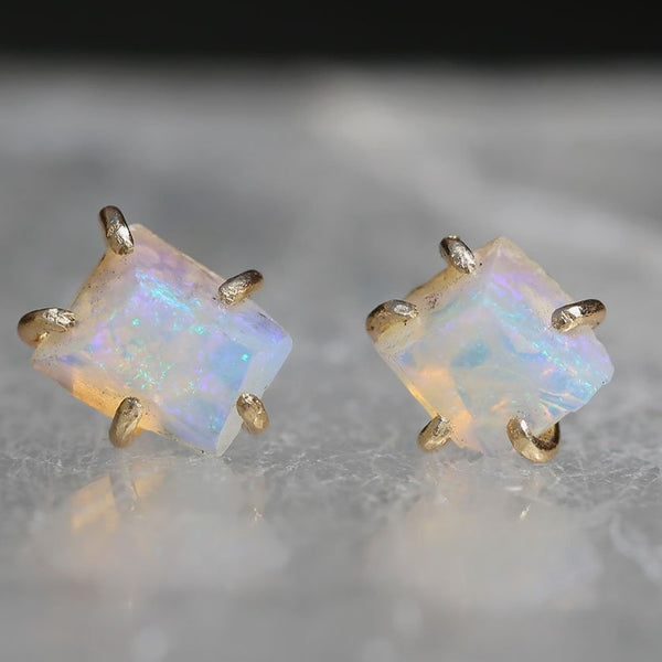NEW! Medium Australian Opal Studs by Variance Objects