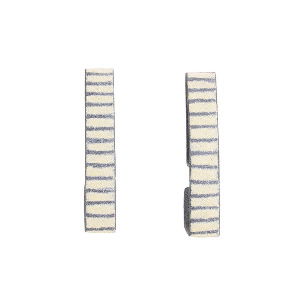 Bamboo Triangle Hoop Earrings (in Multiple Colors) by Mary + Lou Ann