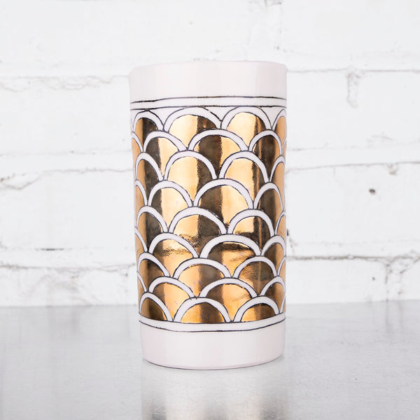 NEW! Tall Striped Animal Vase by Hope & Mary