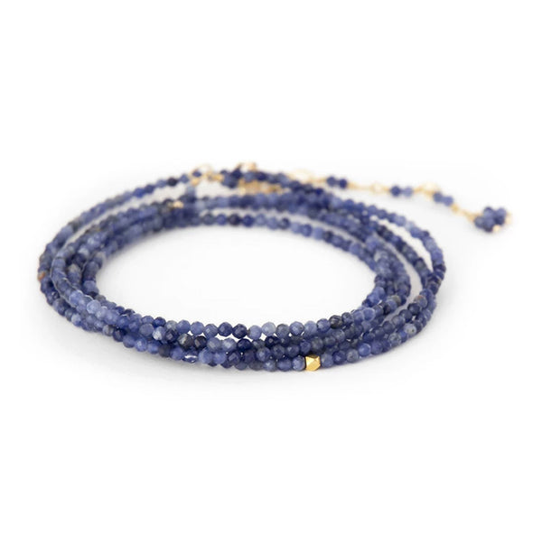 NEW! Wrap Bracelet in Blue Sodalite by Anne Sportun