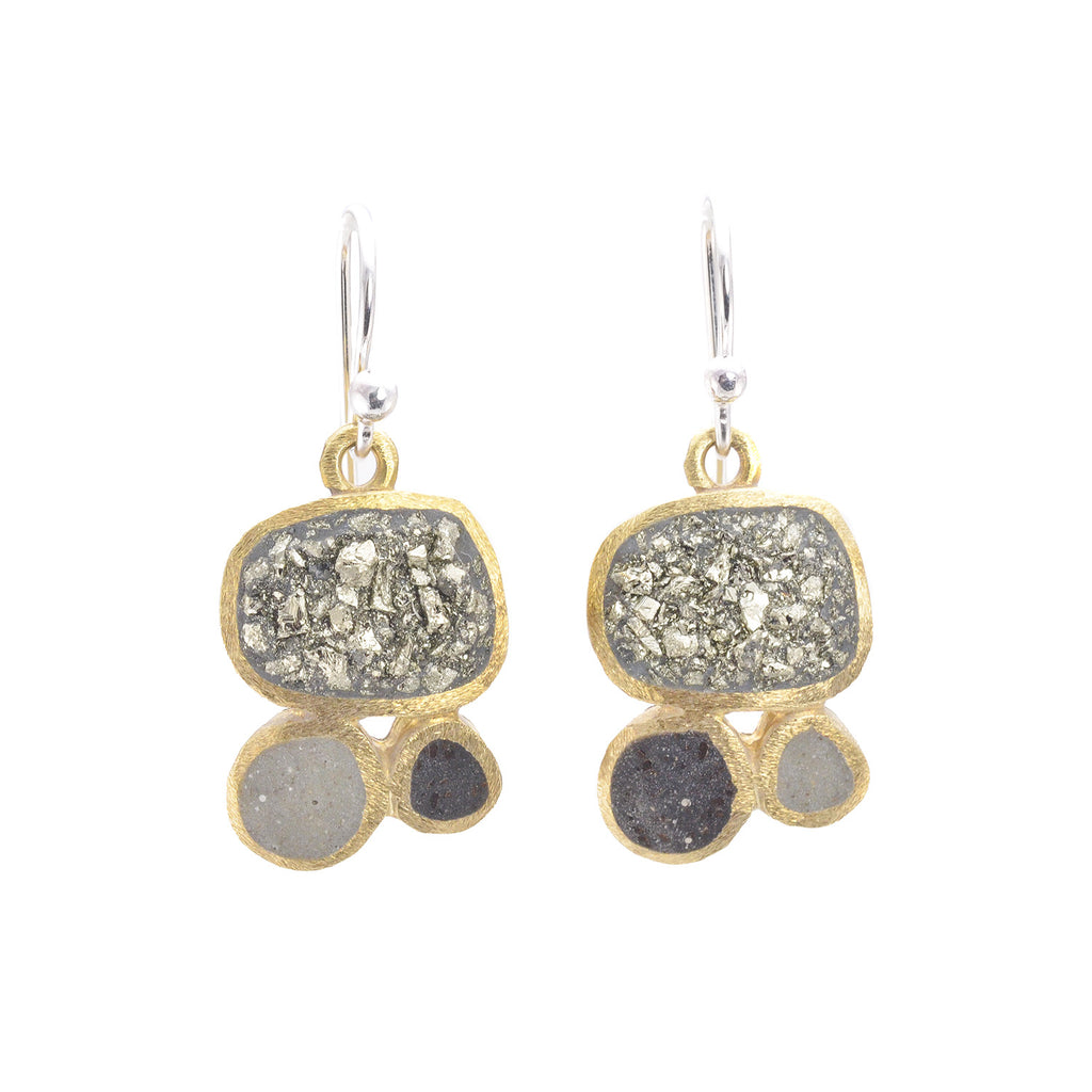 NEW! Bronze TV Earrings in Pyrite, Bark and Grey by David Urso