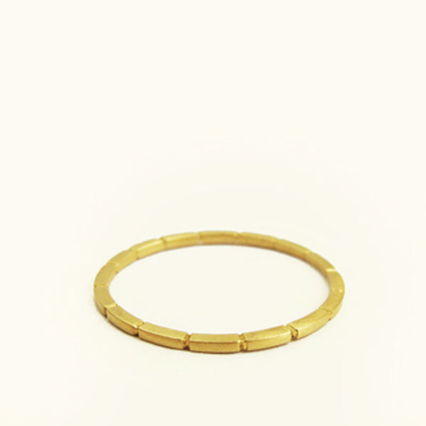 Maya Line Stacking Ring by Carla Caruso - Fire Opal - 1
