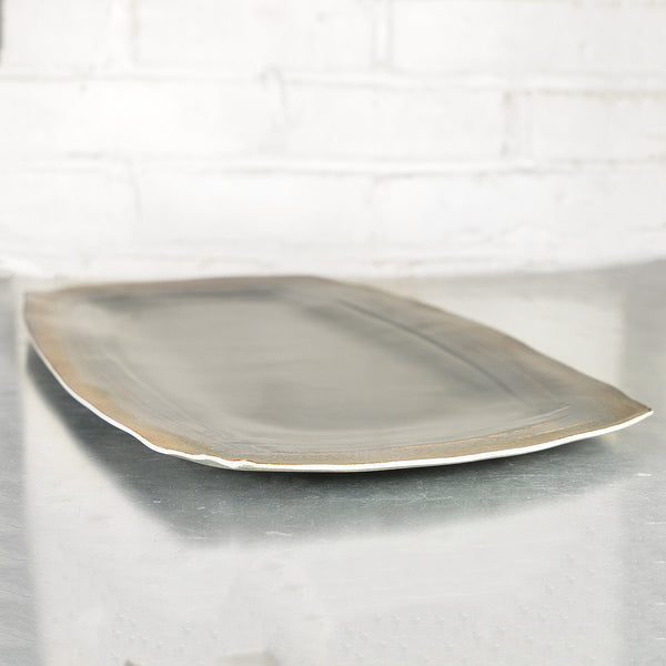 NEW! Rust/Black Large Platter by Eric Jensen