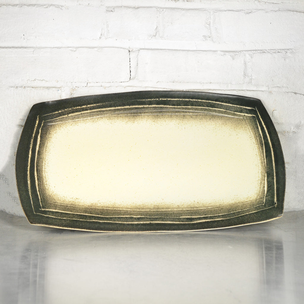 NEW! Yellow/Black Large Platter by Eric Jensen
